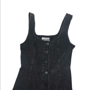 black jean dress from urban outfitters